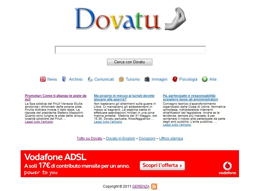 dovatu.it vecchio layout