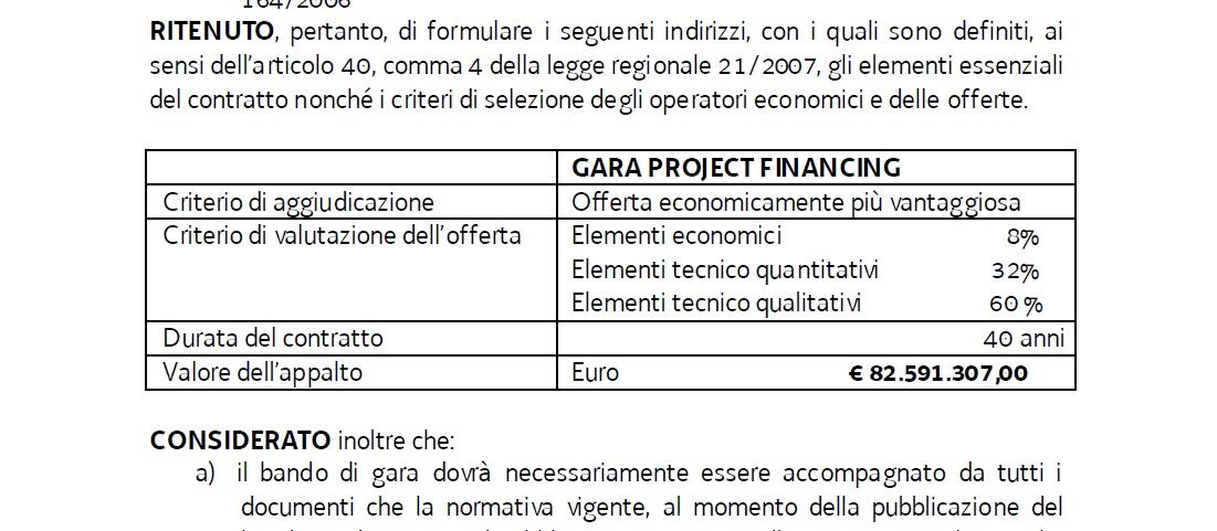 Pramollo - project financing delibera budget