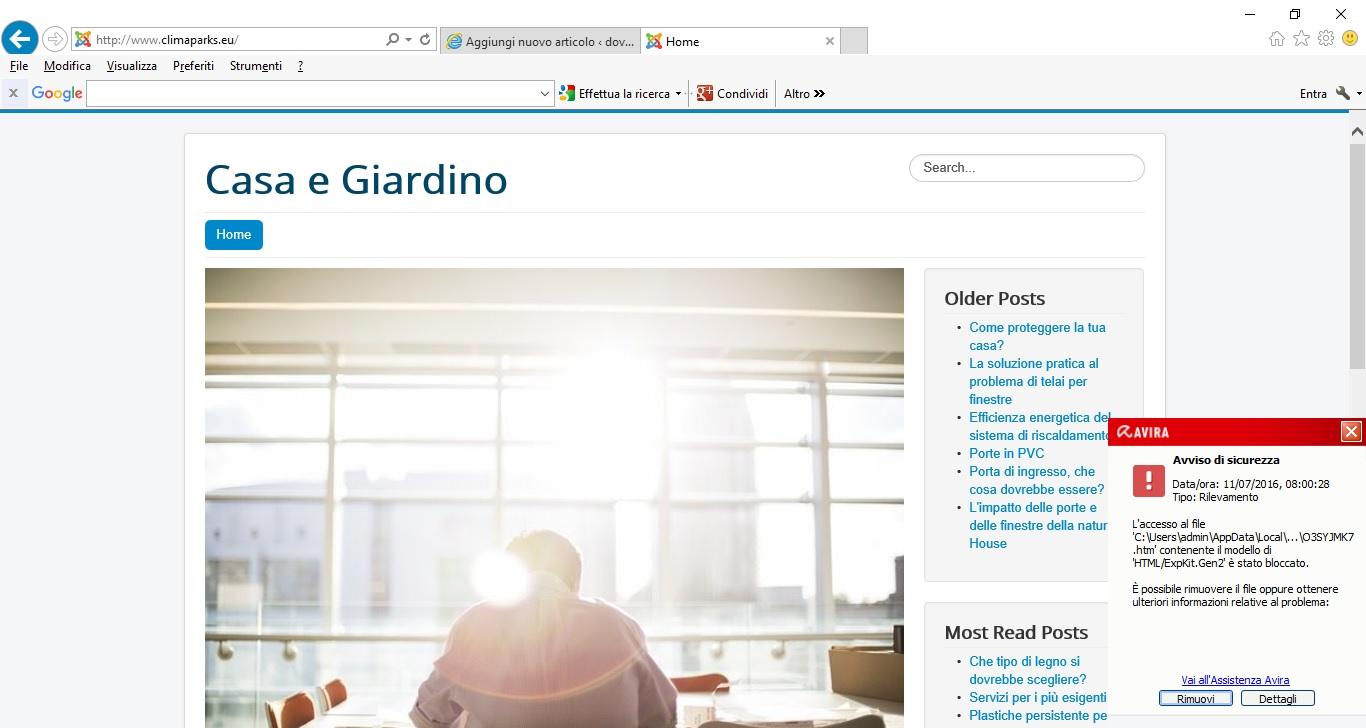 fondi ue esempio sito web
