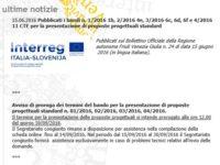 FONDI UE INTERREG ITALIA SLOVENIA: PROBLEMI E PROROGA TERMINI