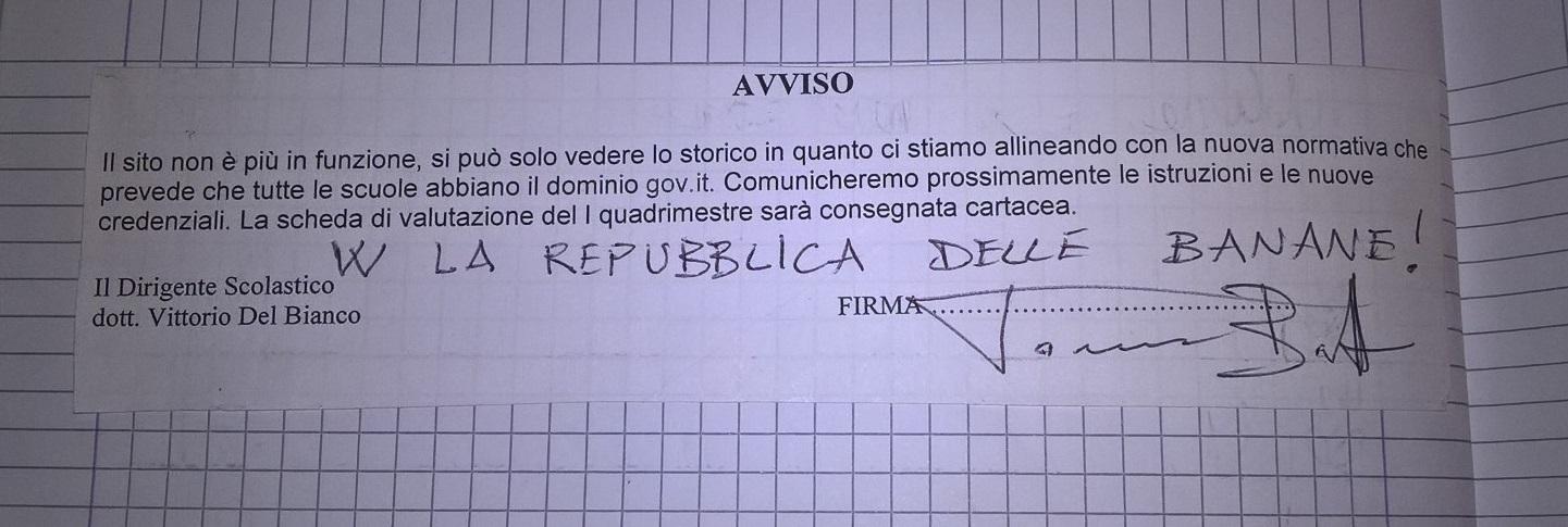 AVVISO PAGELLA DI CARTA